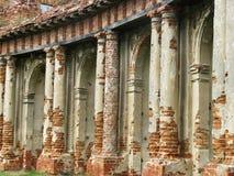 Fördärvar av en forntida slott Arkivbild