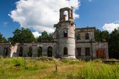 Fördärvar av en forntida slott Tereshchenko Grod i Zhitomir, Ukraina Slott av det 19th århundradet Arkivbilder