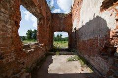 Fördärvar av en forntida slott Tereshchenko Grod i Zhitomir, Ukraina Slott av det 19th århundradet Royaltyfri Fotografi