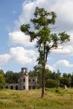 Fördärvar av en forntida slott Tereshchenko Grod i Zhitomir, Ukraina Slott av det 19th århundradet Arkivfoto