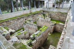 Fördärvar av en forntida stad av Chersonese & x28; Crimea& x29; fotografering för bildbyråer