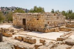 Fördärvar av en forntida synagoga i den bibliska Shilohen, Israel Royaltyfria Bilder