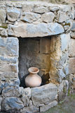 Fördärvar av en forntida synagoga i det arkeologiskt parkerar av Katz Royaltyfri Fotografi