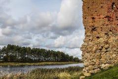 Fördärvar av en gammal fästning Fotografering för Bildbyråer