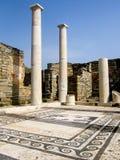 Fördärvar av en grekisk borggård på Delos Royaltyfria Foton