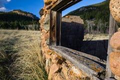 Fördärvar av en hemman i Colorado Arkivfoton