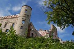 Fördärvar av en renässansJanowiec slott i Polen Arkivbild
