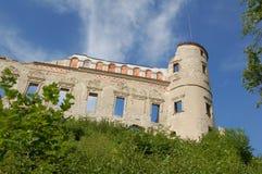 Fördärvar av en renässansJanowiec slott i Polen Royaltyfri Bild