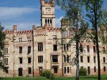Fördärvar av en slott, Cesky Rudolec Royaltyfri Foto