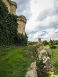 Fördärvar av en slott i Sesena, Castilla la Mancha, Spanien Royaltyfria Bilder