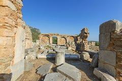 Fördärvar av en tidiga Christian Temple Fotografering för Bildbyråer