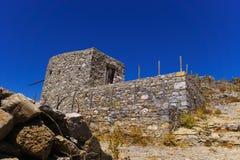 Fördärvar av encient väderkvarnar som byggs i det 15th århundradet Fotografering för Bildbyråer