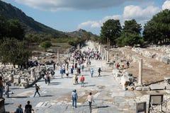 Fördärvar av Ephesus Arkivfoto