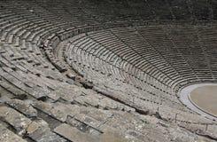 Fördärvar av epidaurusteatern, peloponnese, greece Arkivfoton