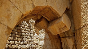 Fördärvar av fästning för passionerad jägare` s i Israel Royaltyfria Foton