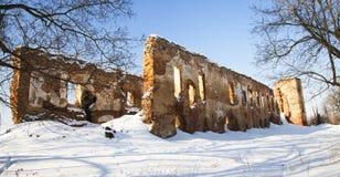 Fördärvar av fästningen (vintern) Royaltyfria Bilder