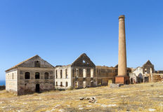 Fördärvar av fabrik i Spanien Fotografering för Bildbyråer