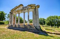 Fördärvar av forntida Apollonia, Albanien Arkivbilder