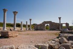 Fördärvar av forntida basilika i Chersonesus, Krim Royaltyfri Fotografi