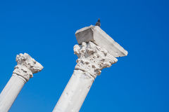 Fördärvar av forntida basilika i Chersonesus, Krim Arkivbild