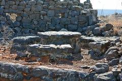 Fördärvar av forntida byggnader i nationalparken Gamla Arkivbilder