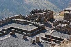 Fördärvar av forntida byggnader i nationalparken Gamla Royaltyfri Fotografi