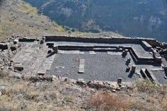 Fördärvar av forntida byggnader i nationalparken Gamla Arkivfoton