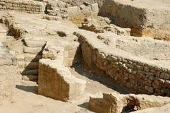 Fördärvar av forntida byggnader på territoriet av ackermanfortet fotografering för bildbyråer