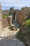 Fördärvar av forntida bysantinsk fästning Peristeraen i stad av Peshtera, Bulgarien royaltyfri foto