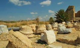 Fördärvar av forntida Caesarea Royaltyfri Fotografi