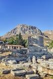 Fördärvar av forntida Corinth Royaltyfri Foto