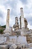 Fördärvar av forntida Ephesus Arkivbilder