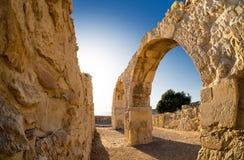 Fördärvar av forntida Kourion Limassol område cyprus Royaltyfri Fotografi