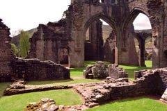 Fördärvar av forntida Llanthony priorskloster, Abergavenny, Monmouthshire, Wales, UK Arkivbilder