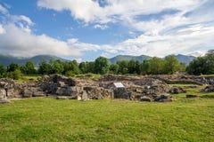 Fördärvar av forntida romersk stad Arkivfoton