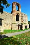 Fördärvar av forntida romerska imperialistiska bad i Trier Royaltyfri Foto