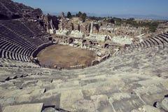 Fördärvar av forntida sida Arkivfoto