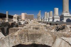 Fördärvar av forntida Smyrna i den Izmir staden, Turkiet royaltyfri fotografi