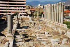 Fördärvar av forntida Smyrna i den Izmir staden, Turkiet royaltyfria bilder
