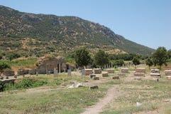 Fördärvar av forntida stad av Ephesus, Turkiet Royaltyfri Foto