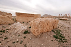 Fördärvar av forntida stad av palmyraen - Syrien Fotografering för Bildbyråer