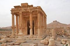 Fördärvar av forntida stad av palmyraen - Syrien Arkivfoto