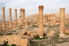 Fördärvar av forntida stad av palmyraen - Syrien Royaltyfria Bilder