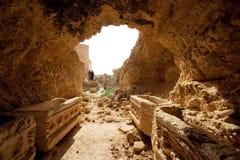 Fördärvar av forntida stad av palmyraen - Syrien Royaltyfri Fotografi