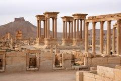 Fördärvar av forntida stad av palmyraen - Syrien Arkivbilder