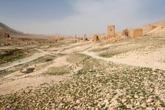 Fördärvar av forntida stad av palmyraen - Syrien Arkivfoton