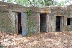 Fördärvar av fortet Fremont nära Beaufort, South Carolina royaltyfri foto