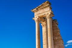 Fördärvar av fristaden av Apollo Hylates, Limassol, Cypern Arkivbilder