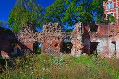 Fördärvar av gammal domkyrka i Vyborg, Ryssland Arkivfoton
