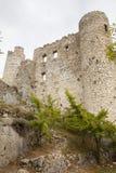 Fördärvar av gammal medeltida slott av Bargeme i Provence Frankrike Fotografering för Bildbyråer